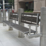 Bollard Bench with Recor Slats